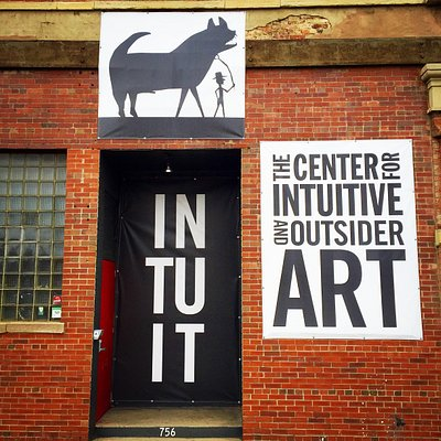 Intuit entrance at Milwaukee Ave. and Chicago Ave.