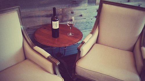 Antique chairs in our tasting room