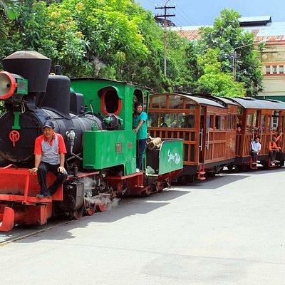 An Orenstein & Koppel built steam locomotive from 1921 hauling steam train across Sondokoro