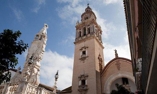 Triunfo a los patrones de Écija, la Virgen del Valle y San Pablo. s. XVIII. Plaza de Santa María