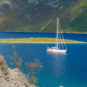 """""""Southern Star"""" in Ersfjorden during hiking trip. Troms wild coast"""