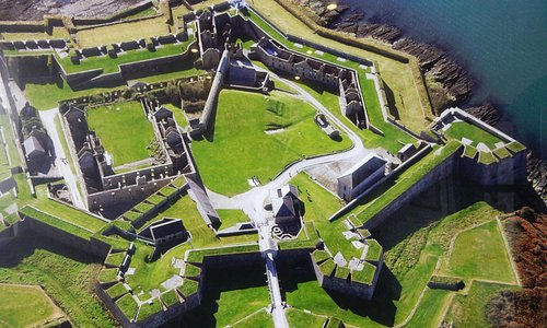 overhead view of the unusual shape of the fort