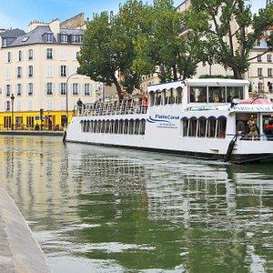 Croisiere canal Saint Martin et Seine, Marne bateau Canotier