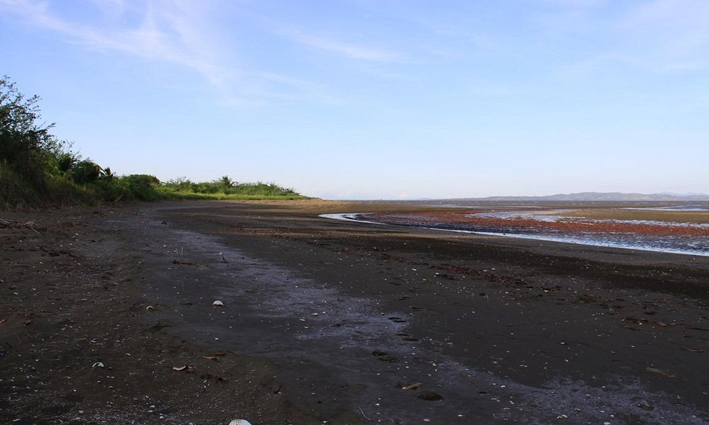 Lagartero Beach at low tide
