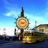 Fisherman's Wharf with Streetcar
