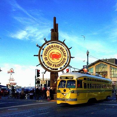 Fisherman's Wharf with Streetcar