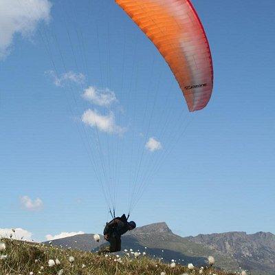 Paragliding on Arran