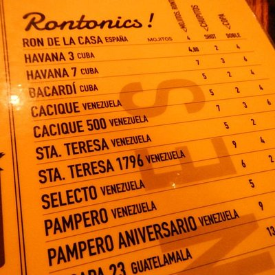Rums, Rums und noch mehr Rums - meine Empfehlungen sind Santa Teresa, Zacapa und Cacique 500