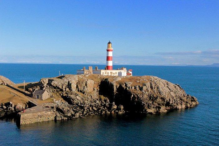 Eilean Glas Lighthouse in spring sunshine