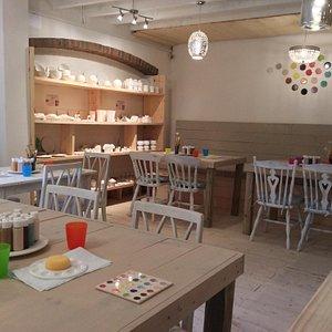 Fantastic, therapeutic pot painting studio