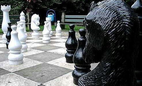 Tabuleiro de Xadrez Gigante