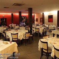 El salón del restaurante Ca'n Calent