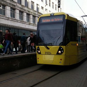 Metrolink Tram and Old Trafford Station