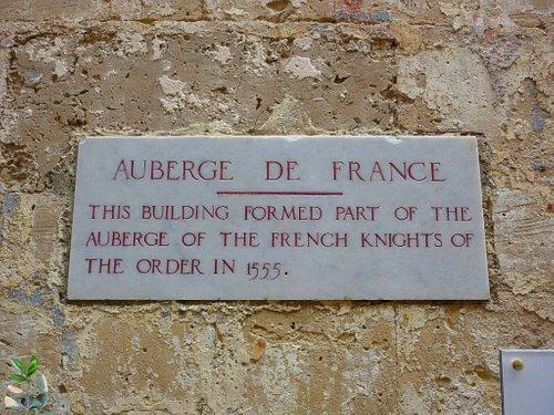 Plaque at Auberge de France