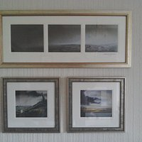 Signed water colours  by Ashley Jackson look brilliant. on our wall and for a  great price.