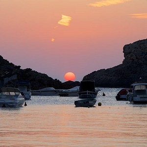Perfekter Sonnenuntergang in Cala Vadella