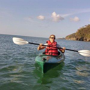 Kayaking to the lagoon.