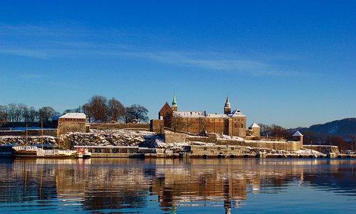 Accretes castle sunny winter day