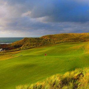 Hole 17 Cape Wickham Links Golf Course.  Photo courtesy of Cape Wickham Golf Course