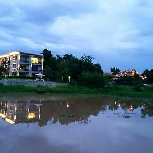 Nice curve of Ping River Chiangmai at Maraya Hotel & Resort