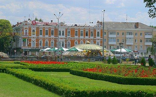 Poltava Central Square facing Oktiabrskaya str.