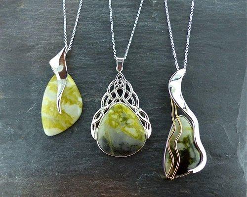 Scottish green marble jewelllery