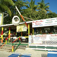 Tony's - right on the beach!