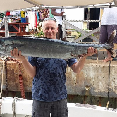 40lb Wahoo caught on Honey Bea 111