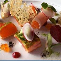 Freshly prepared cuisine by Executive Chef, Floris van der Spek, at Hotel Caprice Wengen