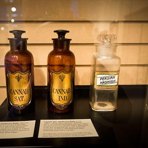 These cannabis apothecary jars date all the way back in the 1800's when different cannabis landr
