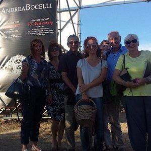 With Serena at Andrea Bocelli's Teatro di Silenzio concert