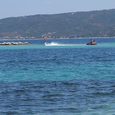 Drenia island. Flyboarding Equipment