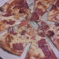 Yummy pizza. ..stone baked