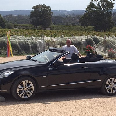 The care, the driver, and a gorgeous winery (Artwine).