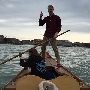 In the lagoon with Row Venice, a great experience. Caroline was a great tutor.