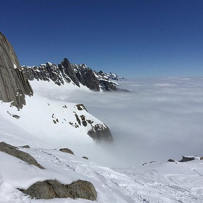 Skifahren in Disentis.