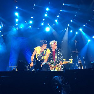 Ronnie Wood and Keith Richards at the Rolling Stones Concert at Foro Sol March 14