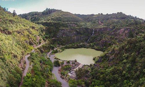 Big Waterfall & Lake at the Gardens
