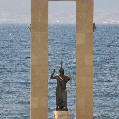 Dettaglio statua Dea Atena