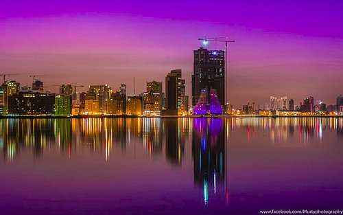 sky line of Manama. Bahrain
