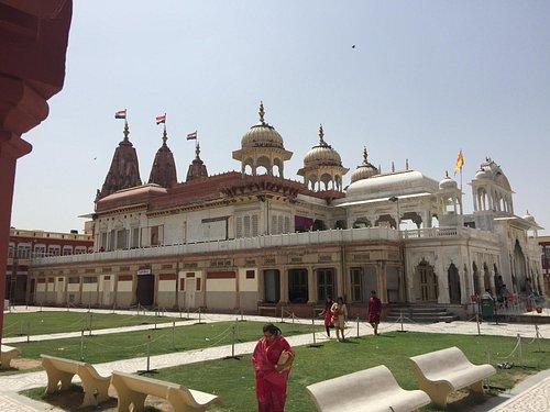 the facade of temple