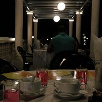 Beach side restaurant