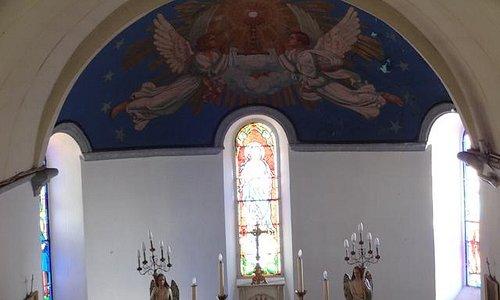 Église de l'Assomption, Aspin-en-Lavedan (H-Pyrénées, Languedoc-Roussillon-Midi-Pyrénées), Franc