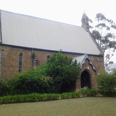 View of church from Heidelberg Road