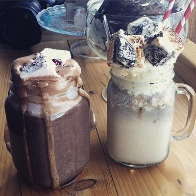 Toasted Mallow shakes and Hot Chocolate.