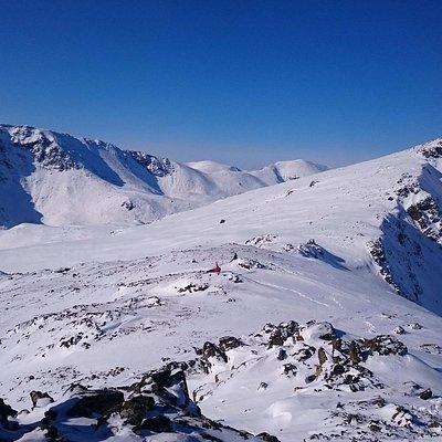 На высоте 2500 м.