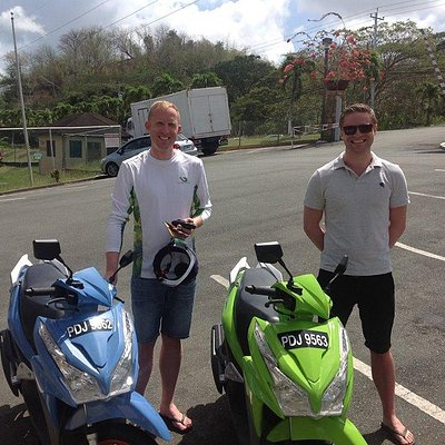 Fredrik and Kristoffer from Norway are excited to explore the beautiful island of Tobago today u