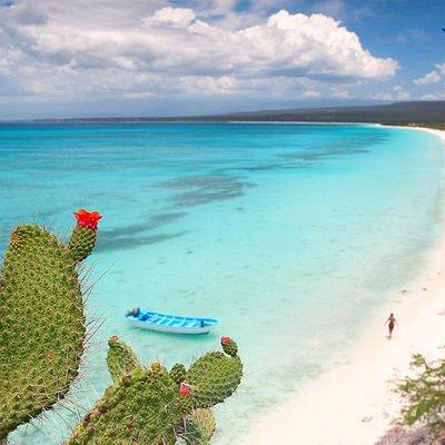 The most beatiful beach of the Island Bahia de Las Aguilas