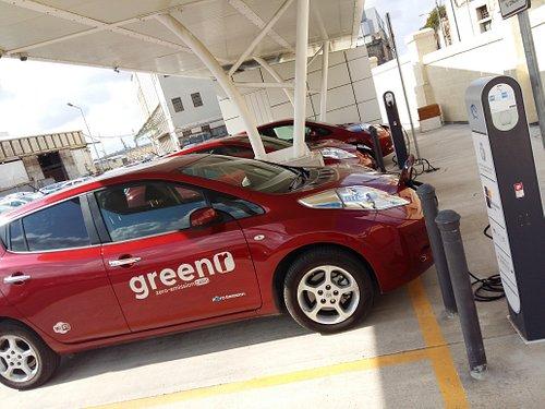 Greenr cars charging.