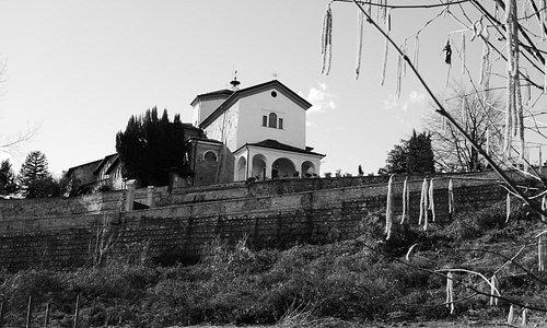 Il Santuario visto dal Parco Fluviale Gesso Stura